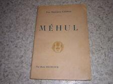 1912.Méhul / Brancour avec envoi autographe.musique