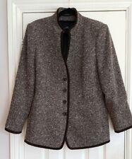Antonette brown wool  tweed jacket 18