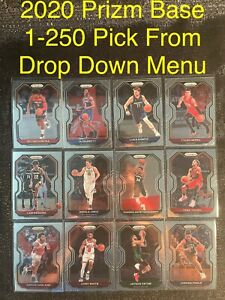 2020-21 PRIZM BASE Basketball Card 1-250 Complete Your Set You Pick 2020 UPDATED