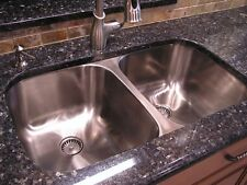 "32"" Double Bowl Kitchen Sink Model Undermount Stainless Steel 9"" Depth 50/50"