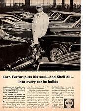 1964 FERRARI GT PININ FARINA 2+2  -  ENZO FERRARI AT FACTORY  ~  ORIG SHELL AD