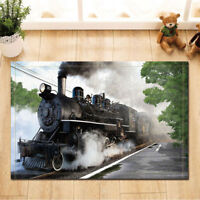 Door Mat Bathroom Rug Bedtoom Carpet Bath Mats Rug Non-Slip steam train