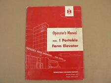 McCormick International Harvester No 1 Portable Farm Elevator Owners Manual 1954