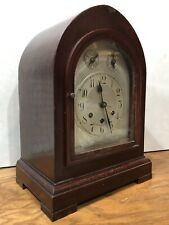 Gustav Becker German Westminster Chime Black Forest Mantel Bracket Clock
