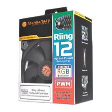 Thermaltake Riing12 LED RGB Fan, 256 Colour 120mm with Fan Switch