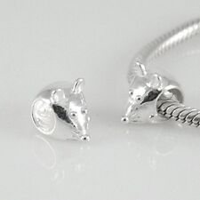 MOUSE - Cute - Animal - Solid 925 sterling silver European charm bead