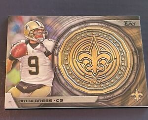 Drew Brees 2014 Topps NFL Commemorative Kickoff Coin #NFLKCDB New Orleans Saints