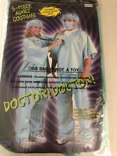 Doctor Costume Adult Surgeon Scrubs Halloween Costume