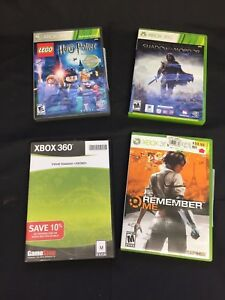 4 XBOX 360 Game Remember Me Lego Harry Potter 1-4 Velvet Assassin Shadow Mordor