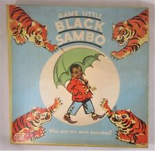 Rare Vintage Board Game: LITTLE BLACK SAMBO - c.1934 New Pieces Unused Complete