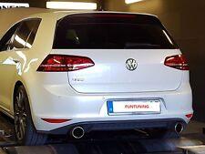 GOLF 7 GTD GTI Scarico Sportivo MARMITTA endschalldämpfer VW VII terminali di scarico 100mm