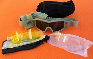 BRITISH ARMY ISSUE REVISION WOLFSPIDER BALLISTIC SAFETY SHOOTING GOGGLES TAN