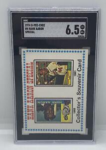 1974 O-Pee-Chee Baseball Hank Aaron Special Braves HOF #4 SGC 6.5