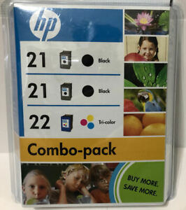 Genuine HP 21 Black 22 Tri-Color BRAND NEW FACTORY SEALED ! EXPIRED 2009