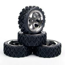 4Pcs Rally Tires Wheel Rim PP0038+PP0487 For HSP HPI RC 1:10 Off Road Racing Car