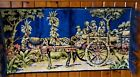 Antique old wall hanging plush Tapestry -  On the way back from the bazaar - car