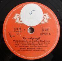 """Helmut Zacharias - Gut aufgelegt - 1. und 2. Teil - Polydor - /10"""" 78 RPM"""