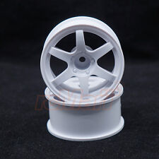 SPICE Mini VOLK Racing TE37 Wheel Offset 0 White For M-Chassis RC Cars #SPA-210