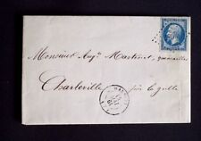 1861 France lettre PC 3687 Wasigny(7) ARDENNES sur timbre n°14 Ind 8 AA6