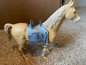 "Vintage 1960 Marx Horse ""Valor "" Silver Noble Knight 12"" Toy Figure w/ Armor"