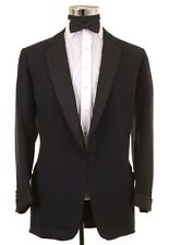 VTG BESPOKE 1950s Gieves SAVILE ROW Black Formal Tuxedo Suit Jacket Pants 42 R L