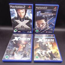PlayStation 2 X Men The Official Game / X Men 2 / X Men Legends I & II PS2