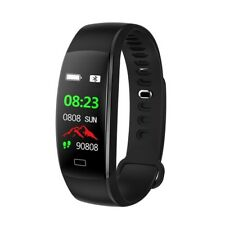 Blood Pressure Heart Rate Monitor Wristband Smart Fitness Waterproof Android