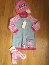 Gymboree Baby Girl 18-24 M Owl Theme Outfit Dress Hat & Socks NWT