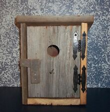 Handcrafted Barnwood Rustic Outhouse Birdhouse