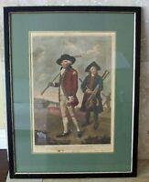 "18th C. Lemuel F. Abbott Hand Colored Engraving ""Goffers At Blackheath"" Framed"