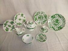 More details for c4 porcelain coalport - green dragon - vintage/antique tableware, age vary 1d2d