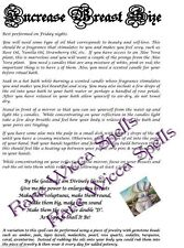 Increase Size of Breasts Spell for Wicca Book of Shadows Glamour Self Image Love