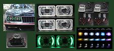 H4656 H4666 H4651 H4646 4 Green LED Halo Projector Headlight 4x6 w HID 6K 8K 10K