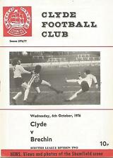 Football Programme - Clyde v Brechin City - Div 2 - 6/10/1976