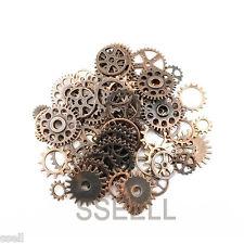 80X Vintage Copper Watch Parts Steampunk Cyberpunnk Cogs Gears DIY Jewelry Craft