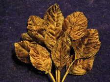 Millinery Flower Leaf Velvet Dark Brown 18pc Bunch for Hat Wedding + Hair Y237