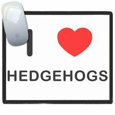 I Love Corazón Hedgehogs - Fino Pictoral Plástico Ratón Libreta Tapete