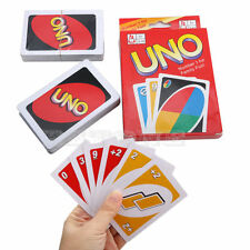Standard 108X UNO Playing Cards Game For Family Friend Travel Instruction Fun