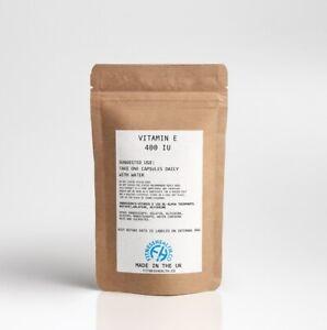 Vitamin E 400IU Antioxidant 30 Softgels Guaranteed Quality UK Made