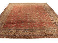 "Authentic Wool Rnr-6371 10' 4"" x 12' 0"" Persian Sarouk Rug"