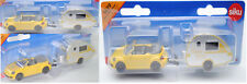 Siku Super 1629 VW The Beetle Cabriolet mit Wohnanhänger Summer / Holiday 1:55