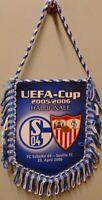 Wimpel / Banner + FC Schalke 04 UEFA Cup 2006 Halbfinale gegen Sevilla FC (103)
