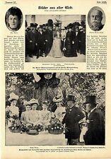 Wiener Männer-Gesangsverein in Paris Gartenfest beim Grafen Bülow Auswärt...1900