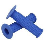 Puños y cintas azules para manillar de bicicletas