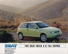SEAT Ibiza Cupra 2.0 16V Mk2 Launch Press Release/Photograph - 1996