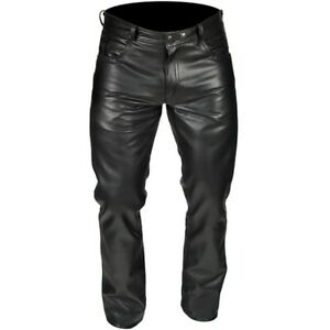 NEW  BUFFALO CLASSIC STRAIGHT LEG LEATHER JEANS SIZE 40 RRP £129.99