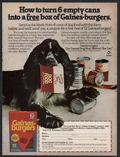 1979 Blue Roan Parti Cocker Spaniel Gaines Dog Food Photo Ad