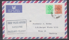 Falkland Islands 1985 Cover to Austria   FIELD POST OFFICE CHIEF POLICE OFFICER