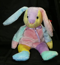 TY Beanie Babies Dippy Bunny Rabbit BeanBag Swing Tush HOLOGRAM Tags 2002 10 Yrs