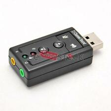 Carte son USB externe pre ecoute Dj virtuel Plug and play sans driver Mac et Pc